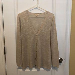 Eileen Fisher Beige Linen Cardigan - Size: Small